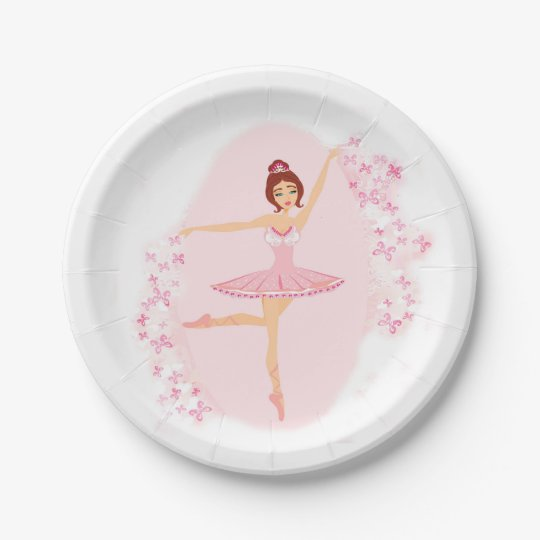 Beautiful Ballerina Paper Plate Zazzle