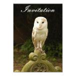 "Beautiful Barn Owl Invitation 5"" X 7"" Invitation Card"