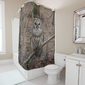 Barred Owl Print Shower Curtain