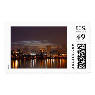 Beautiful Bay Area Quiet Night Scene Postage