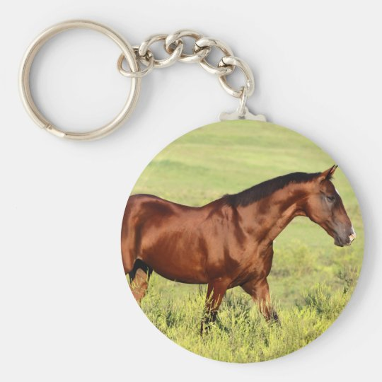 Beautiful Bay Horse Keychain