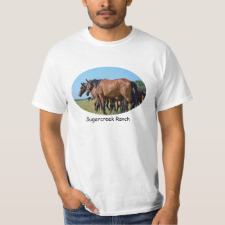 Beautiful Bay Horses Advertise Your Ranch T Shirt