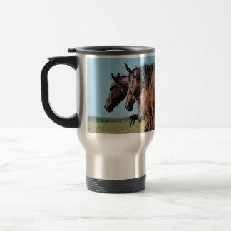 Beautiful Bay Horses Travel Mug