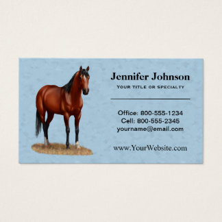 Beautiful Bay Quarter Horse Business Card