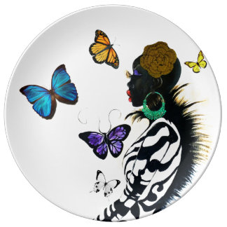 "Beautiful Bazaar 10.75"" Decorative Porcelain Plate"