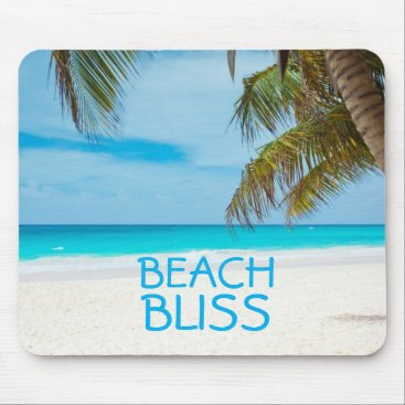Beach Themed Beautiful Beach Bliss Mouse Pad