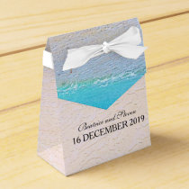 Beautiful Beach/Destination Wedding Personalized Favor Box