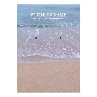 Beautiful Beach Earring Display Cards Business Card Templates