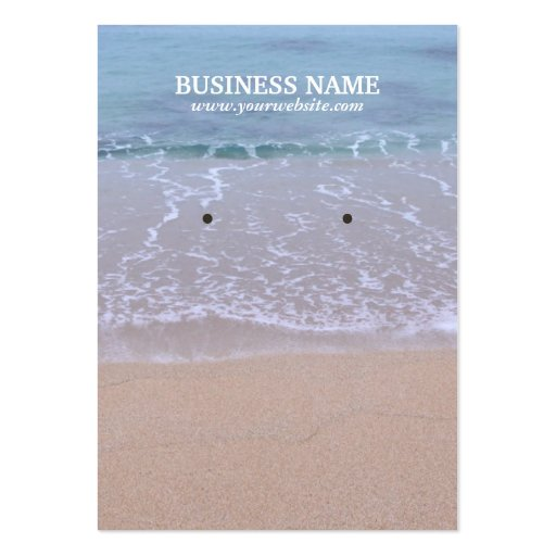 Beautiful Beach Earring Display Cards Business Card Templates