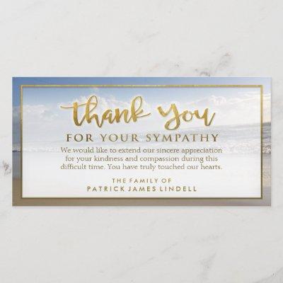 Beach Sympathy Thank You Memorial Photo Card Zazzle Com