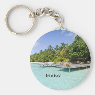 Beautiful beach in maldives key chain