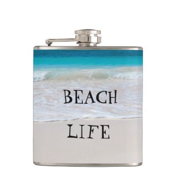 Beach Themed Beautiful Beach Life Flask