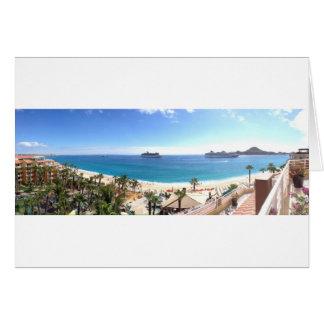 Beautiful beach panorama card
