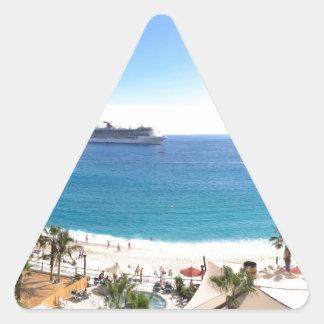 Beautiful beach panorama triangle sticker