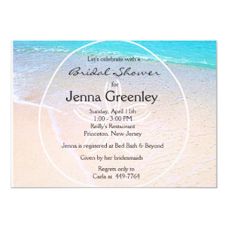 Beautiful Beach Sand Dollar Bridal Wedding Shower Card