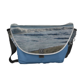 Beautiful Beach Sand Waves Bag Courier Bags