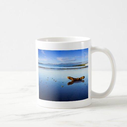 Beautiful Beach Scene At Dusk Mugs