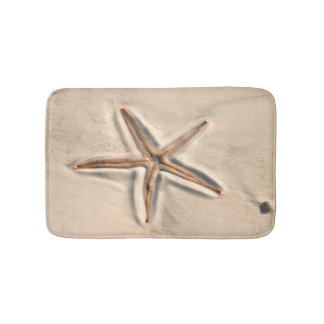 Beautiful Beach Starfish Bath Mat