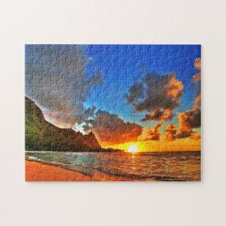 Beautiful Beach Sunset Jigsaw Puzzle