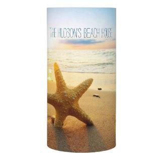 Beautiful Beach Sunset Starfish Custom Beach House Flameless Candle