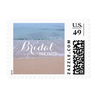 Beautiful Beach Theme Bridal Shower Stamps