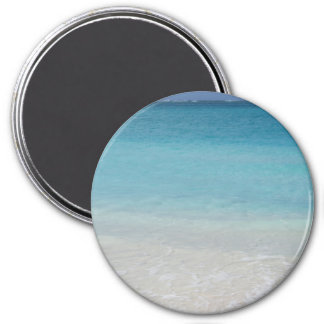 Beautiful Beach | Turks and Caicos Photo 3 Inch Round Magnet