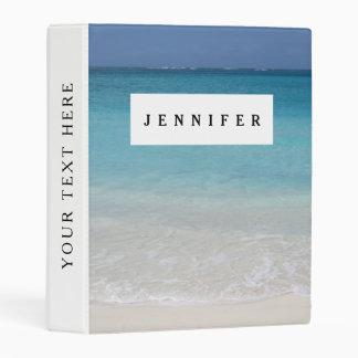 Beautiful Beach   Turks and Caicos Photo Mini Binder