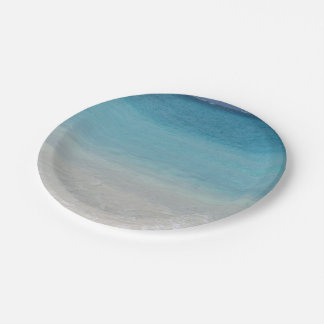 Beautiful Beach | Turks and Caicos Photo Paper Plate
