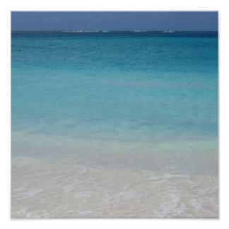 Beautiful Beach | Turks and Caicos Photo Poster