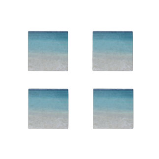 Beautiful Beach   Turks and Caicos Photo Stone Magnet