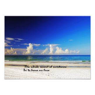 Beautiful beach wall print