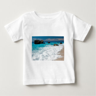 Beautiful Beach Water Surf Aloha Hawaiian Wedding Baby T-Shirt
