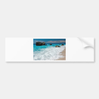 Beautiful Beach Water Surf Aloha Hawaiian Wedding Bumper Sticker