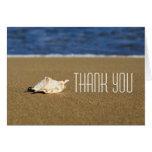 Beautiful Beach Waves | Seashell Nautical Wedding Stationery Note Card
