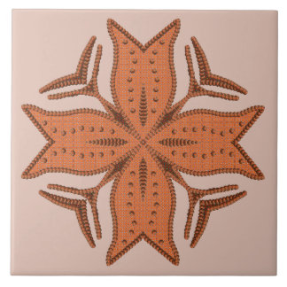 Beautiful Beaded Cross Motif Tile