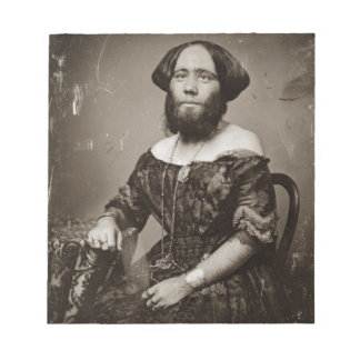 Beautiful Bearded Lady Notepad