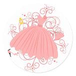 Beautiful, Beautiful Dress Classic Round Sticker