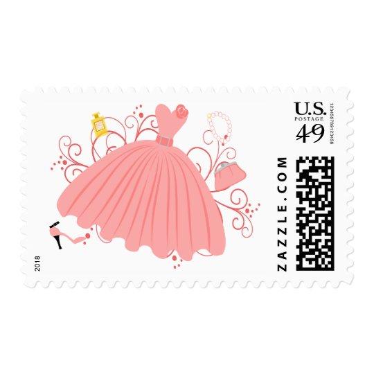 Beautiful, Beautiful Dress Postage Stamp