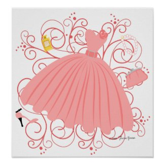 Beautiful, Beautiful Dress print
