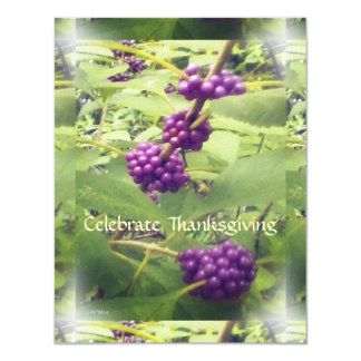 Beautiful Beauty Berry Thanksgiving Botanical Card