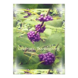 Beautiful Beauty Berry Thanksgiving Botanical Card