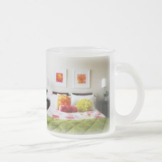 Beautiful Bed and Bedroom Decor Frosted Glass Coffee Mug