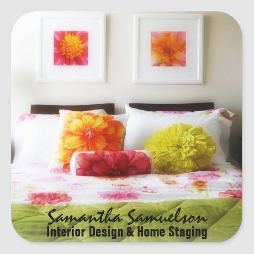 Beautiful Bed and Bedroom Decor Stickers
