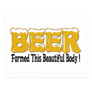 Beautiful Beer Body Postcard