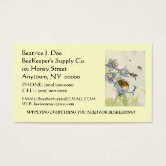 BEAUTIFUL BEES ON FLOWERS ~ BUSINESS ~CONTACT CARD