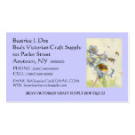 BEAUTIFUL BEES ON FLOWERS ~ BUSINESS ~CONTACT CARD BUSINESS CARD