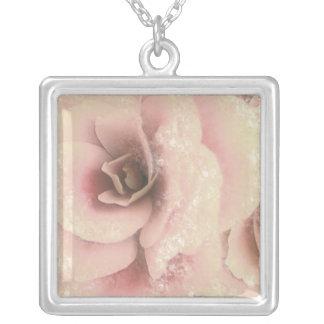 Beautiful Begonia, Pink & Winter White, Necklace