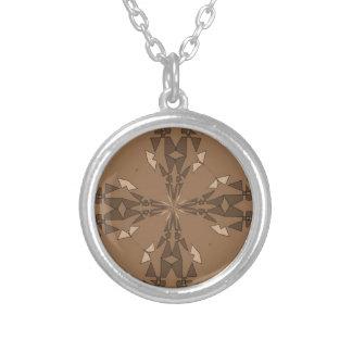 Beautiful Beige Round Pendant Necklace