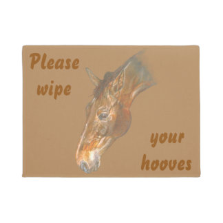 beautiful Belgian Warmblood horse image Doormat