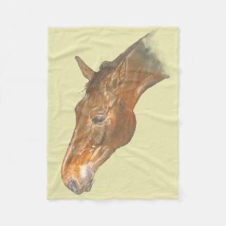 beautiful Belgian Warmblood horse image Fleece Blanket